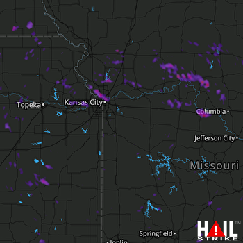 Hail Map Kansas City, MO 06-30-2017
