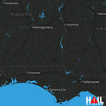 Hail Map Panama City, FL 08-28-2018
