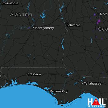 Hail Map Warner Robins, GA 07-23-2021