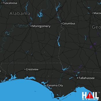 Hail Map Wray, GA 10-08-2021