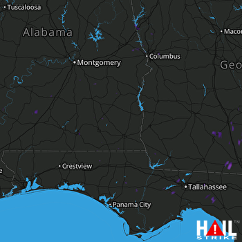 Hail Map FORT RUCKER 07-13-2017