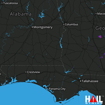 Hail Map Rochelle, GA 08-26-2017
