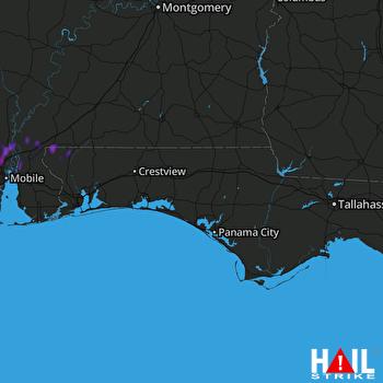 Hail Map Atmore, AL 10-05-2019