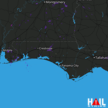 Hail Map EGLIN AFB 07-26-2017