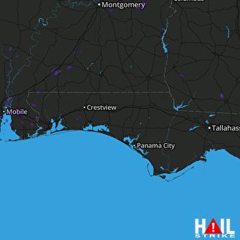 Hail Map EGLIN AFB 08-23-2017