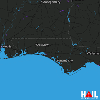 Hail Map Mobile, AL 09-22-2017