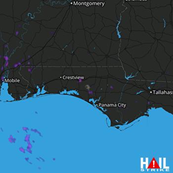 Hail Map Mobile, AL 05-17-2018