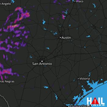 Hail Map Harker Heights, TX 10-01-2021