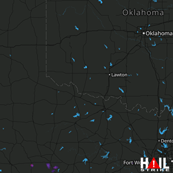 Hail Map Hawley, TX 08-20-2018