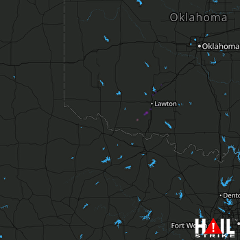 Hail Map Chattanooga, OK 03-23-2019