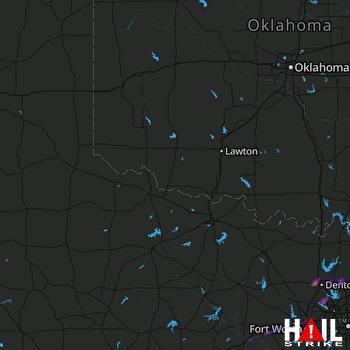 Hail Map Flower Mound, TX 03-25-2019