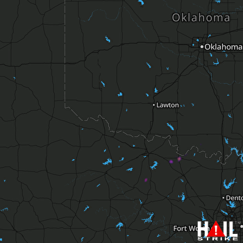Hail Map ALTUS AFB 04-13-2019