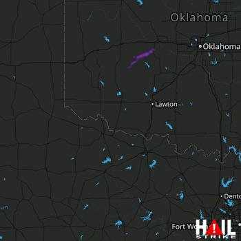 Hail Map ALTUS AFB 05-23-2019