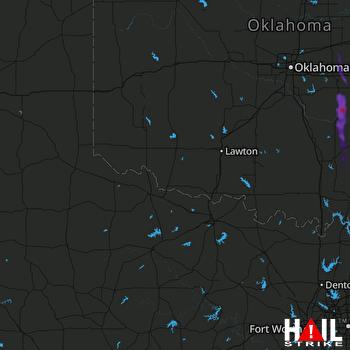Hail Map Asher, OK 08-03-2019