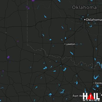 Hail Map Arnett, OK 08-07-2019