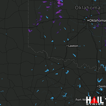 Hail Map Sayre, OK 08-30-2019