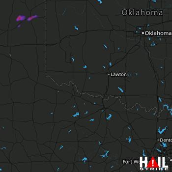 Hail Map ALTUS AFB 09-19-2019