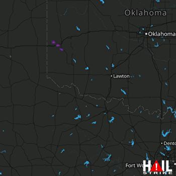 Hail Map ALTUS AFB 04-03-2020