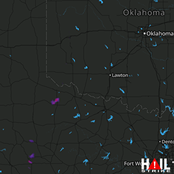 Hail Map Rotan, TX 07-01-2020