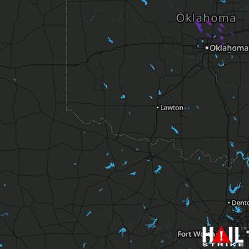 Hail Map Guthrie, OK 07-04-2020