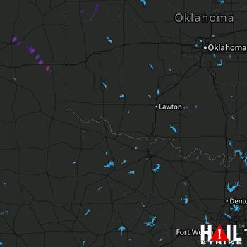 Hail Map Shamrock, TX 08-11-2020