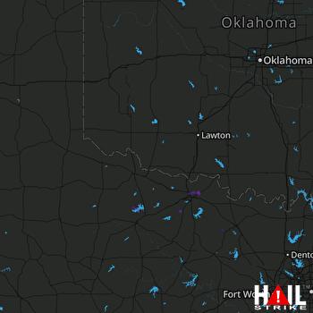 Hail Map ALTUS AFB 10-23-2020