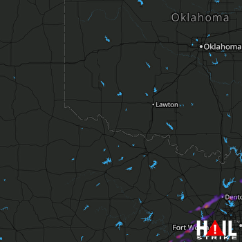 Hail Map Weatherford, TX 05-11-2021
