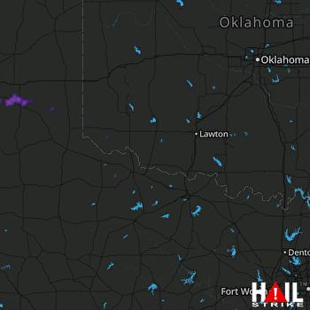 Hail Map ALTUS AFB 06-13-2021