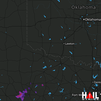 Hail Map Hamlin, TX 06-14-2021