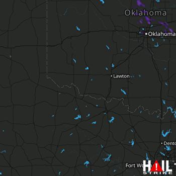 Hail Map Edmond, OK 07-27-2021