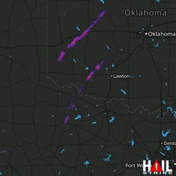 Hail Map Clinton, OK 10-13-2021