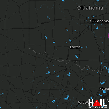 Hail Map Seminole, OK 03-10-2017
