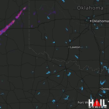 Hail Map Groom, TX 05-10-2017