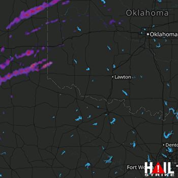 Hail Map Canadian, TX 06-14-2017