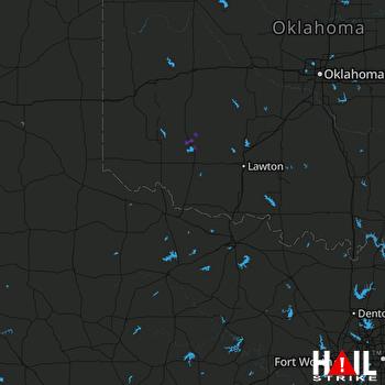 Hail Map ALTUS AFB 07-09-2017