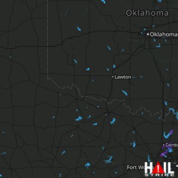 Hail Map Roanoke, TX 08-17-2017