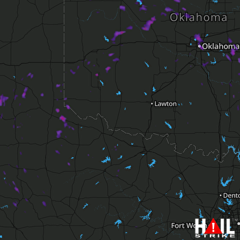 Hail Map Oklahoma City, OK 08-22-2017