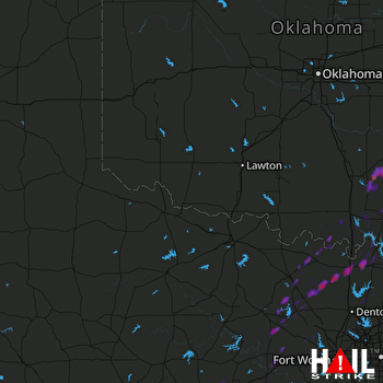 Hail Map Sulphur, OK 10-10-2017