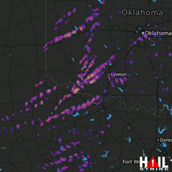 Hail Map Oklahoma City, OK 10-21-2017