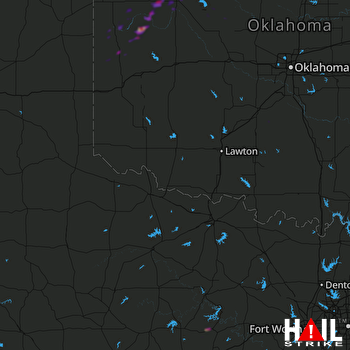 Hail Map Seiling, OK 02-20-2018