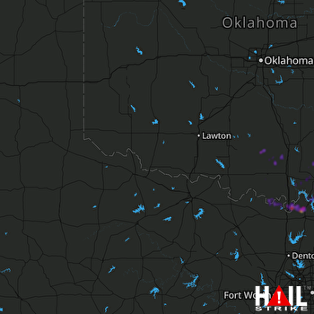 Hail Map Kingston, OK 04-06-2018