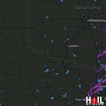 Hail Map Denton, TX 04-13-2018