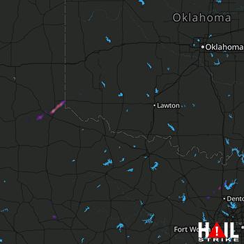 Hail Map Sanger, TX 04-21-2018