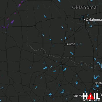 Hail Map Lefors, TX 05-01-2018