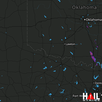 Hail Map Ardmore, OK 06-05-2018