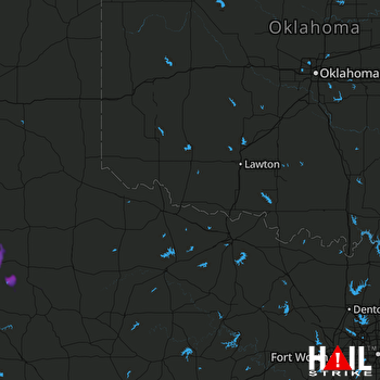 Hail Map Crosbyton, TX 07-02-2018
