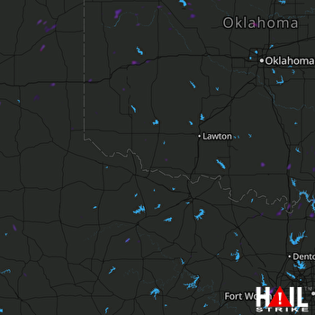 Hail Map Healdton, OK 07-06-2018