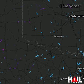 Hail Map Sayre, OK 08-10-2018