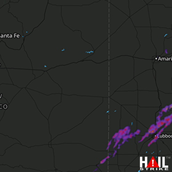 Hail Map Lubbock, TX 05-24-2019