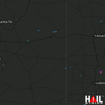Hail Map CANNON AFB 12-18-2019